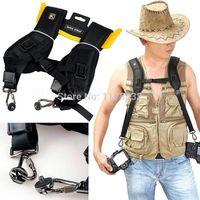 Digital SLR High Quality New Black Professional Rapid Camera Double Shoulder Sling Strap For SLR DSLR