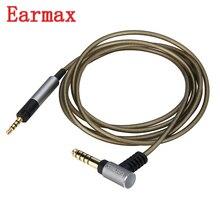 Earmax repuesto de Cable de Audio auxiliar, 4,4mm/2,5mm, chapado en plata, para Sennheiser HD598se/518/558/569/579/599