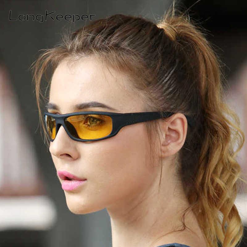 طويل حارس الاستقطاب للرؤية الليلية النظارات الشمسية النساء الرجعية سلامة القيادة نظارات شمسية الرجال UV400 عدسات صفراء اللون نظارات KP1039