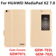 Case For Huawei MediaPad X2 Smart cowl Protective PU Leather Tablet For HUAWEI Honor X2 GEM-703L GEM-702L 701L Covers Protector