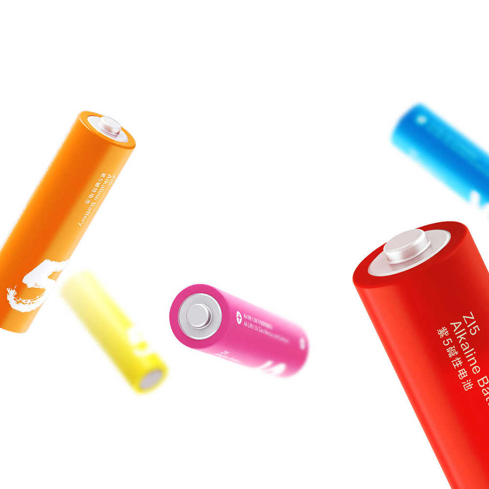 10 шт./лот радужные одноразовые батареи оригинальный XIAOMI ZI5 AA аккумулятор для камеры мышь Клавиатура Контроллер игрушка