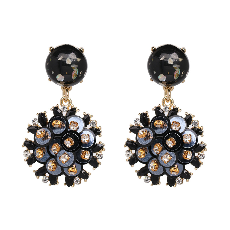 Aliexpress.com   Buy Qiaose Vintage Sequins Flowers Pendant Dangle Earrings  for Women Fashion Jewelry Boho Maxi Collection Earrings Accessories from ... 2d2712c645e5