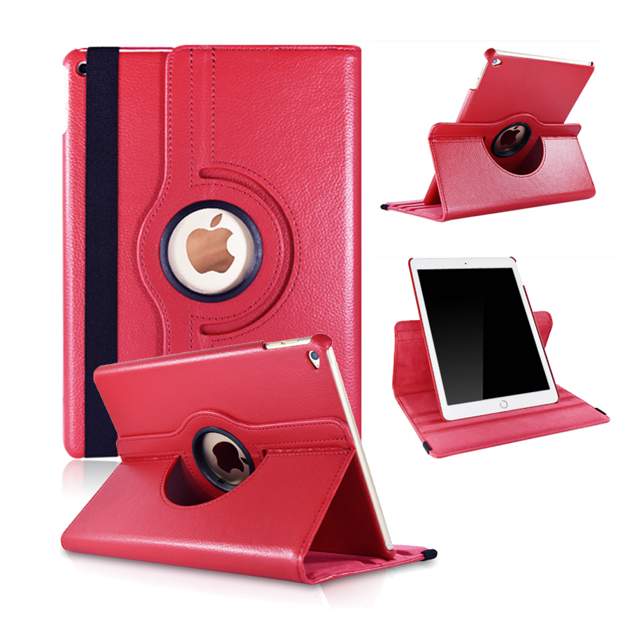 For iPad Air Case Stand Feature Luxury 360 Rotating PU Leather Case Cover for iPad Air iPad 5 Coque Funda