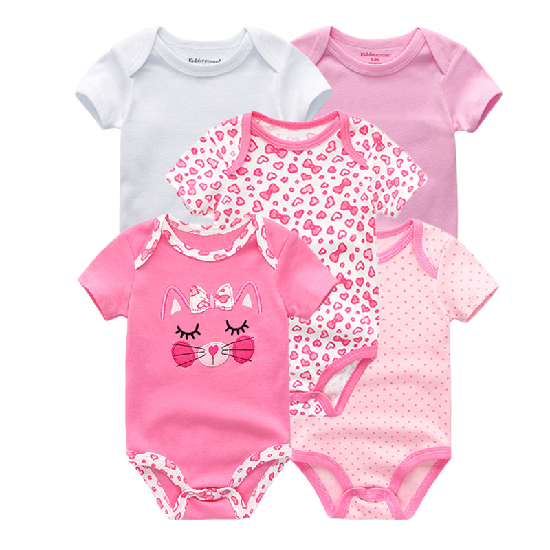Kiddiezoom детские комбинезоны пижамы для маленьких девочек Дети Bebe Infantil одежда для новорожденных одежда из хлопка Одежда для маленьких мальчиков, Товары для детей - Цвет: baby girls 5994