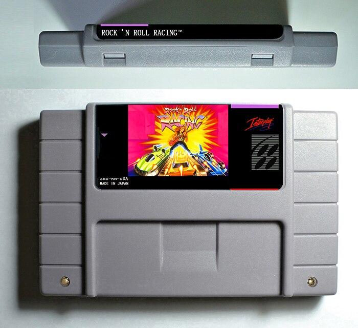 Rock 'N Roll Racing juego de acción cartucho 16 poco 46 pin ee.uu. versión