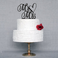 New Design Mr Mrs Wedding Cake Topper Black Acrylic Toppers Wholesale With Free