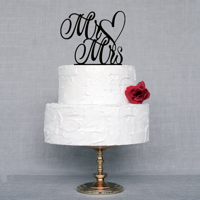 New Design Mr & Mrs Wedding Cake Topper Black Acrylic Wedding Cake ...