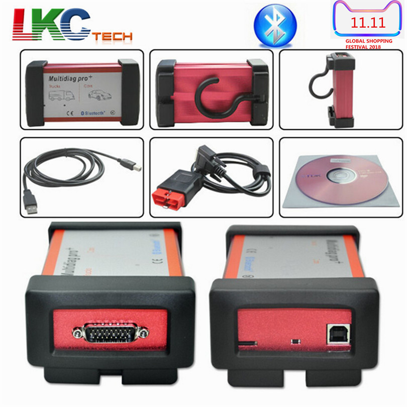 цена A+Quality Green PCB TCS CDP MultiDiag Pro+Bluetooth Software 2016.00 Multidiag Car Diagnostic Tool Auto Scanner For Car/Truck