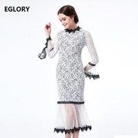 100 Silk Women S Set Dress Summer 2017 Ladies Vintage Floral Embroidery White Dark Green Color