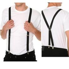 NWBD1002 - Мода черный цвет 4 клипа мужские подтяжки брюки подтяжки бесплатная доставка
