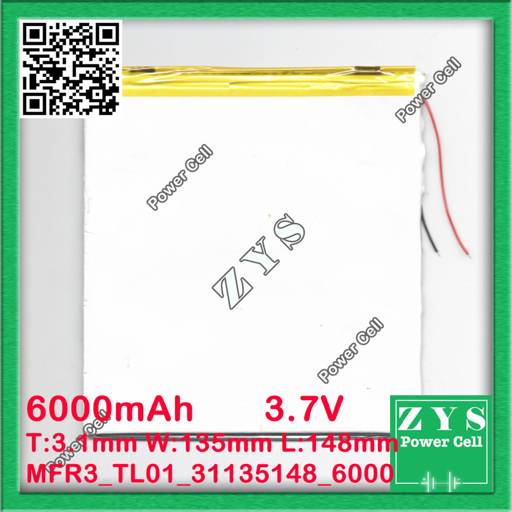 The New Battery 6000mAH Li-ion Tablet pc battery For 7,8,9 inch tablet PC ICOO 3.7V Polymer lithiumion Battery With High Quality 3 7v 5500mah li ion polymer lithiumion battery for 7 8 9 inch tablet pc icoo d70pro ii onda sanei 4 5 79 97mm free shipping