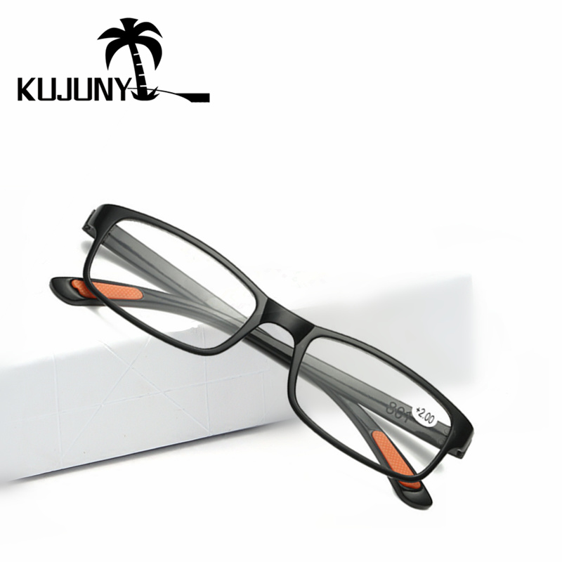 KUJUNY Anti-fatigue Resin Reading Glasses TR90 ultra-light Women Men Presbyopic Glasses Hyperopia Prescription Eyewear 1.5 2.0