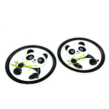 10PCS/LOT PANDA PLATES DISHES KIDS BABY SHOWER PARTY SUPPLIES PAPER PLATE