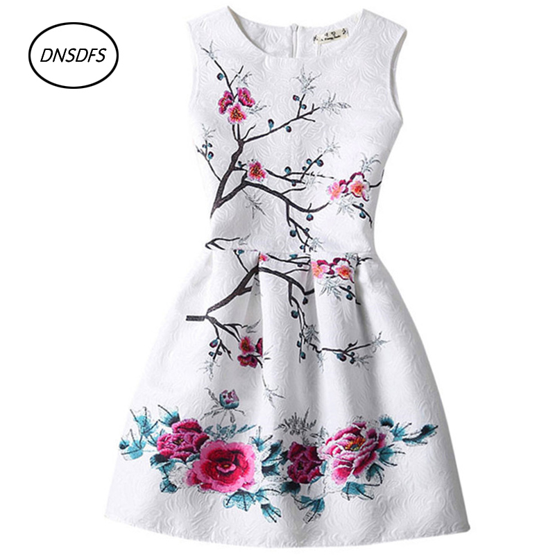 Teenagers Party Dress 2018 New Summer Butterfly Floral Print Teenagers Dresses for Girls Designer Formal Kids Vestido 13~20Y