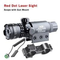 Taktik Av Tüfek Red Dot Lazer Sight Kapsam 20mm Ray Picatinny Dağı Airsoft Lazer Kapsamı