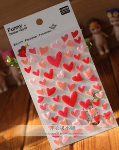 20 Set love Felt Kawaii Stickers Diary Planner Journal Note Diary Paper Scrapbooking Albums PhotoTag Funny 842-1