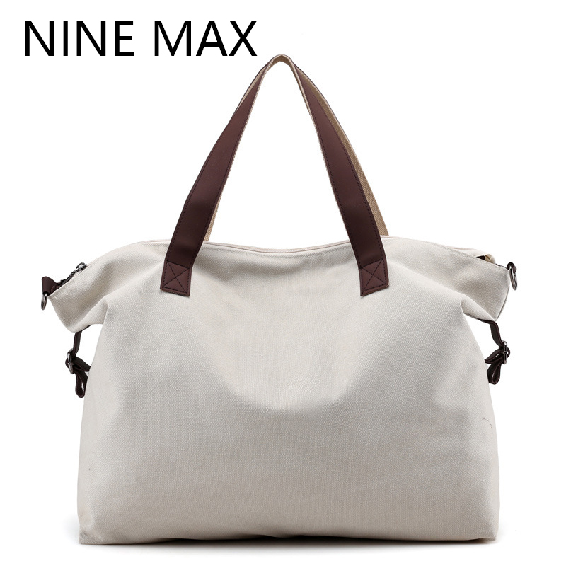 2018 New Fashion Women Canvas Handbags High Quanlity Shoulder Bag for Female Large Capacity Leisure Crossbody Bags Travel Totes high quality travel canvas women handbag casual large capacity hobos bag hot sell female totes bolsas ruched solid shoulder bag