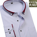 2017 new arrival Autumn shirt male print long-sleeve extra large formal shirt super large fashion polka dot plus size M -8XL9XL