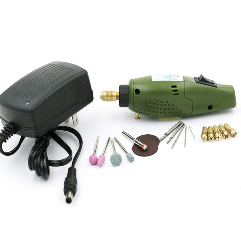 US Mini Electric drill qstexpress accessories Electric Grinding Set 12V DC Grinder Tool for Milling Polishing Drilling Engraving  цены
