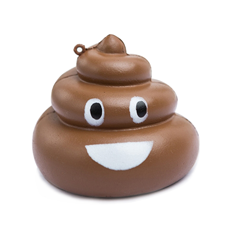 New Cute Poo Squishy Smile Expression PU Slow Rising Soft Squeeze Toy Simulation Bread Stress Relief Fun For Children Xmas Gift