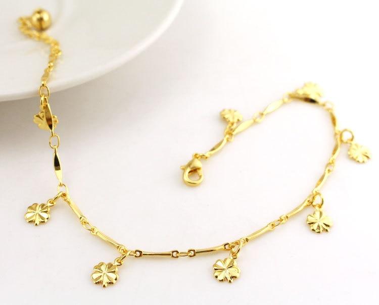 Jewelry & Accessories Jewelry Sets & More Flower Anklet Tassel Gold Leg Bracelet Foot Jewelry Ankle Bracelets For Women Enkelbandje Tornozeleira Pulseras Tobilleras Mujer