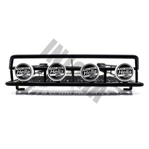 Image 2 - INJORA Tetto In Metallo Cremagliera con Luci A LED per 1:10 RC Rock Crawler Assiale SCX10 e SCX10 II 90046 D90