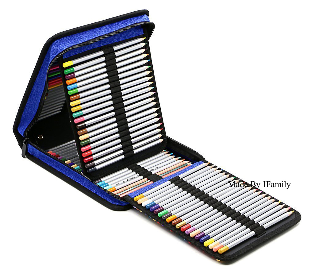 Large Capacity Folding Marker Pen liner Canvas Pencil Case Pen Storage Bag Hold 120holes stationary set case bag only 24 colors fine liner pen 35 holes pencil