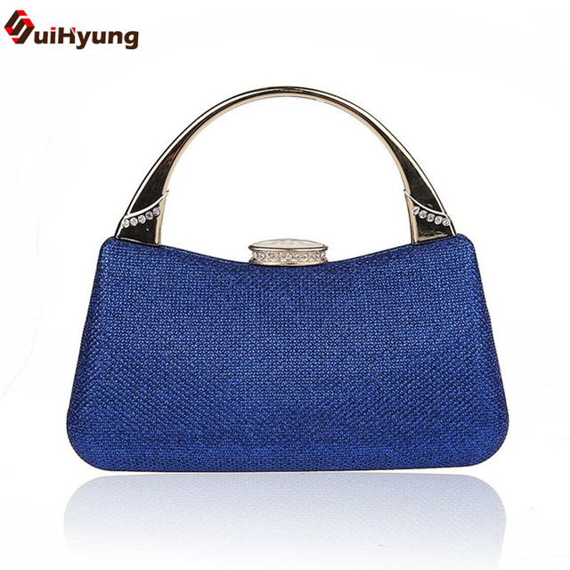 New Women Diamond Clutch Tote Fashion Evening Bag Wedding Party Handbag Ladies Shoulder Bag Can Be Placed iPhone 6PLUS and 6S