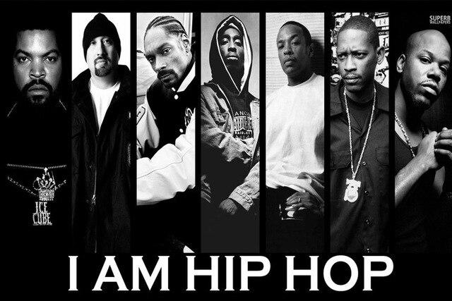 rap golpeador rapper música hip-hop graffiti - Camiseta mujer