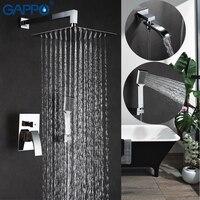 GAPPO Tường phòng tắm vòi sen vòi nước bằng đồng thau thiết lập đồng lượng mưa tắm mixer tap chrome bồn tắm vòi thác Bath Shower GA7107