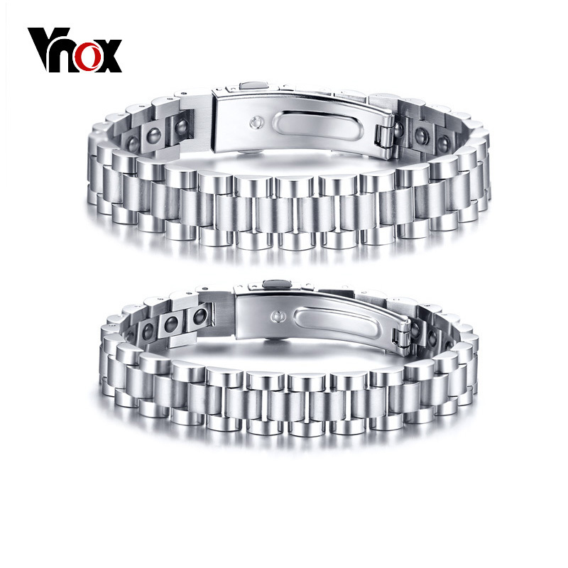 Vnox Healthy Hematite Bracelets Bangles for Men Women Bio Energy Therapy Stainless Steel Strap Bracelet Silver Tone schwinn streamliner 2 womens 2015 white