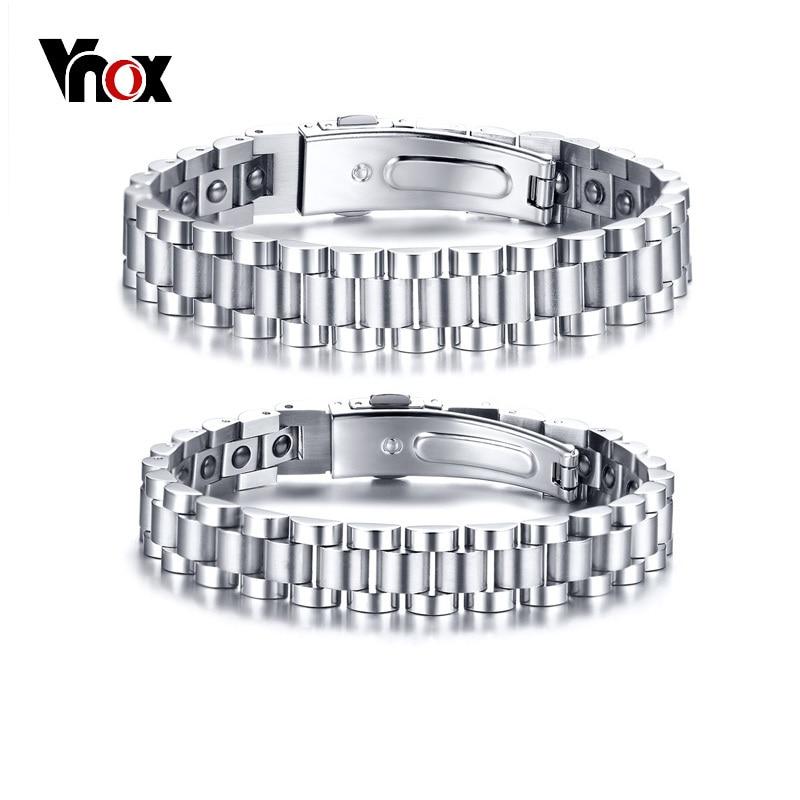 Vnox Healthy Hematite Bracelets Bangles for Men Women Bio Energy Therapy Stainless Steel Strap Bracelet Silver Tone сетевой фильтр pilot gl 3м 6 розеток белый