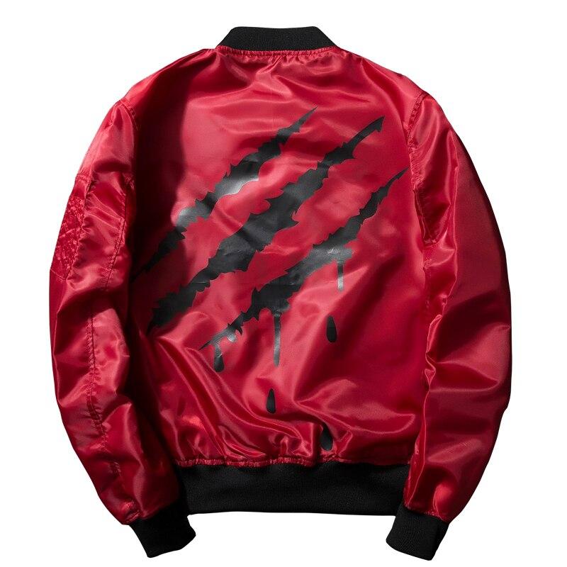 Fashion Long Sleeve Black Ma1 Bomber Jacket Men 2017 New Pilot Jacket