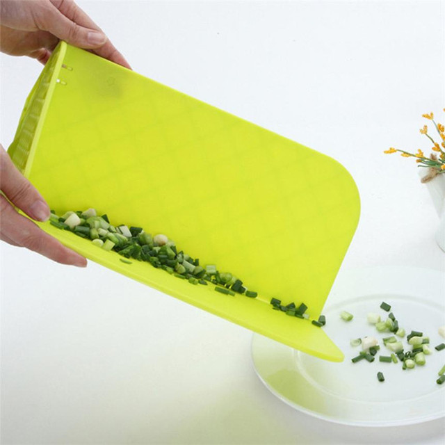 Awesome Foldable Gap Food Collection Plastic Cutting Board Folding Chop Mat Pads  Portable Vegetable Fruit Cut Boards