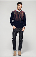 Free Shipping New Autumn Fashion Brand Casual Slim Fit Knitting O Neck Sweaters And Pullovers For