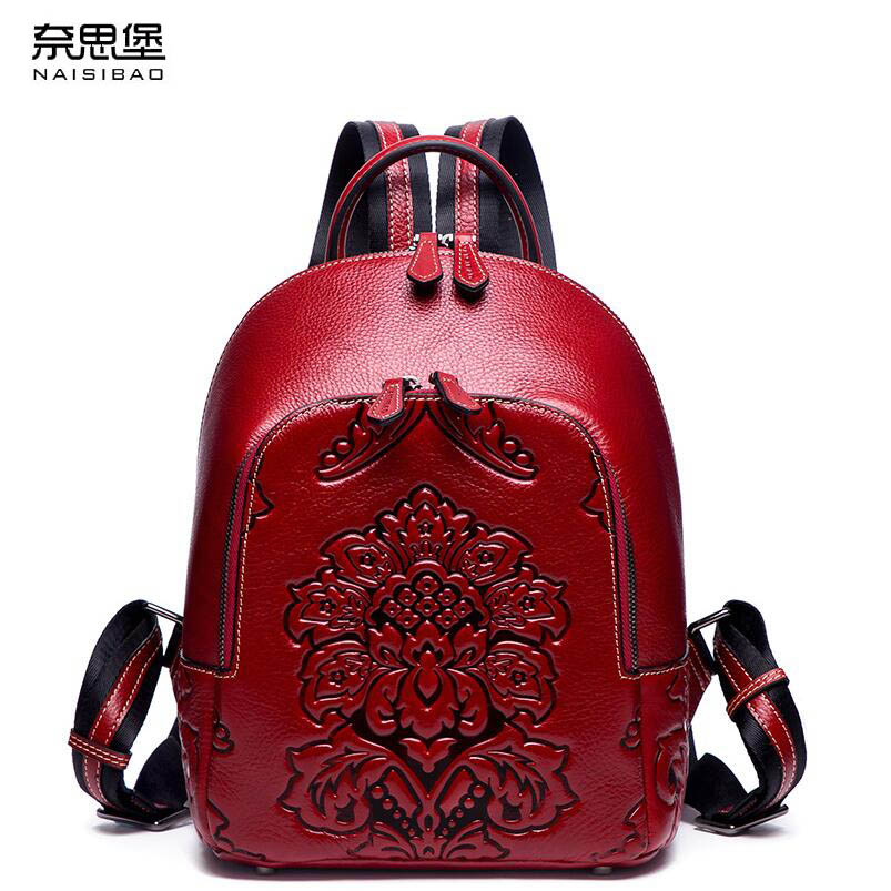 New women leather bag designer brand quality leather embossed women backpack quality fashion women leather backpack foxer 2018 new women genuine leather bag designer brand leather women backpack quality fashion casual women leather backpack