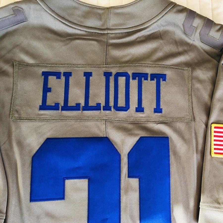 new product 74e55 5e51e VZ VARE ZANE Official Men Dallas Ezekiel Elliott Salute To ...