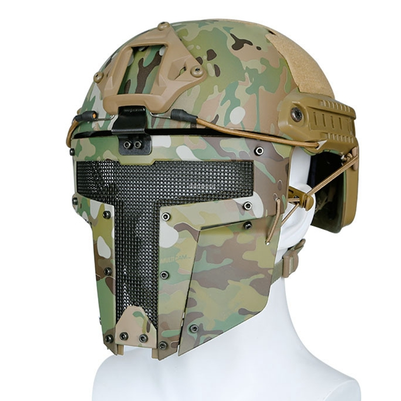Tactical Airsoft Paintball Half Face Mask Use With Fast Helmet Mask Military Hunting Protector Masks