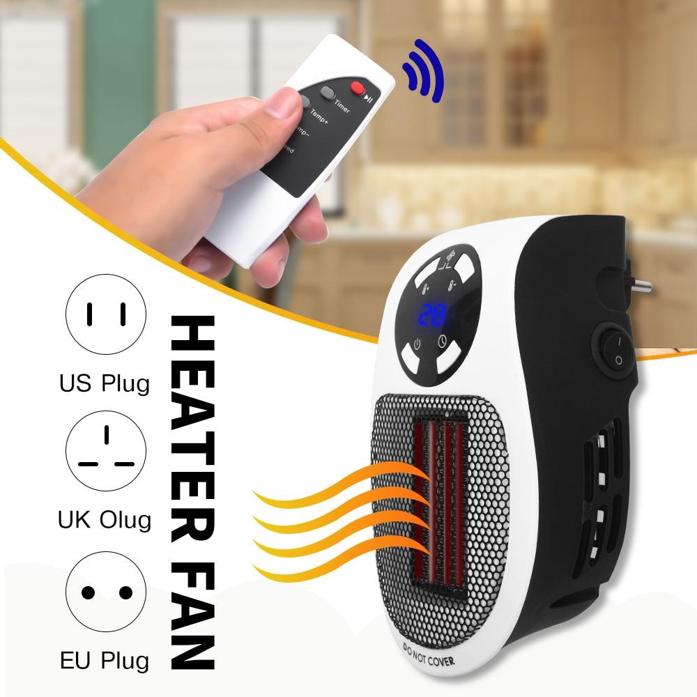220V 500W Portable Electric Heater Mini Fan Heater Desktop Household Wall Handy Heating Stove Radiator Warmer Machine For Winter