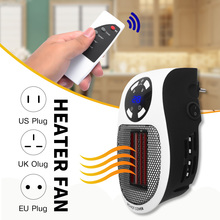 220V 500W calentador eléctrico, portátil mini ventilador calefactor de escritorio hogar pared radiador calentador de mano caliente de invierno