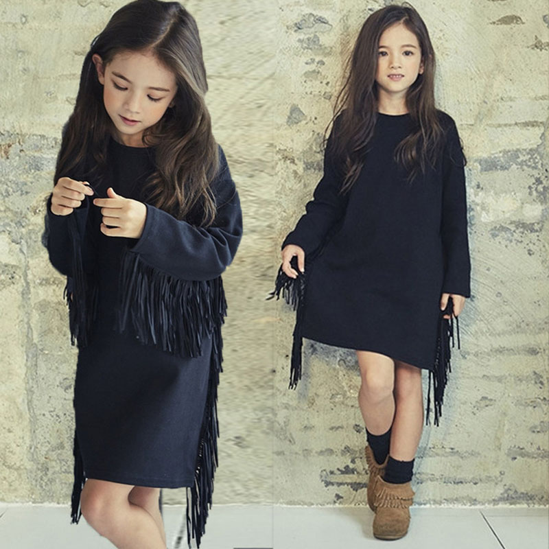 Платье для девочки с бахромой | Aliexpress