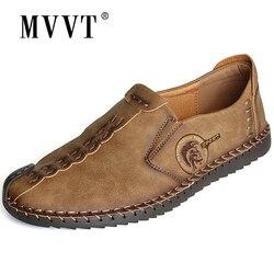 Clássico confortável sapatos masculinos sapatos casuais mocassins sapatos masculinos qualidade split sapatos de couro apartamentos venda quente mocassins sapatos mais tamanho