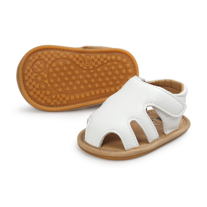 Newborn Baby Kids Summer Shoes Hollow Crib Bebe First Walkers Soft Rubber Soled Outdoor PU Leather Girl Boy Shoe New