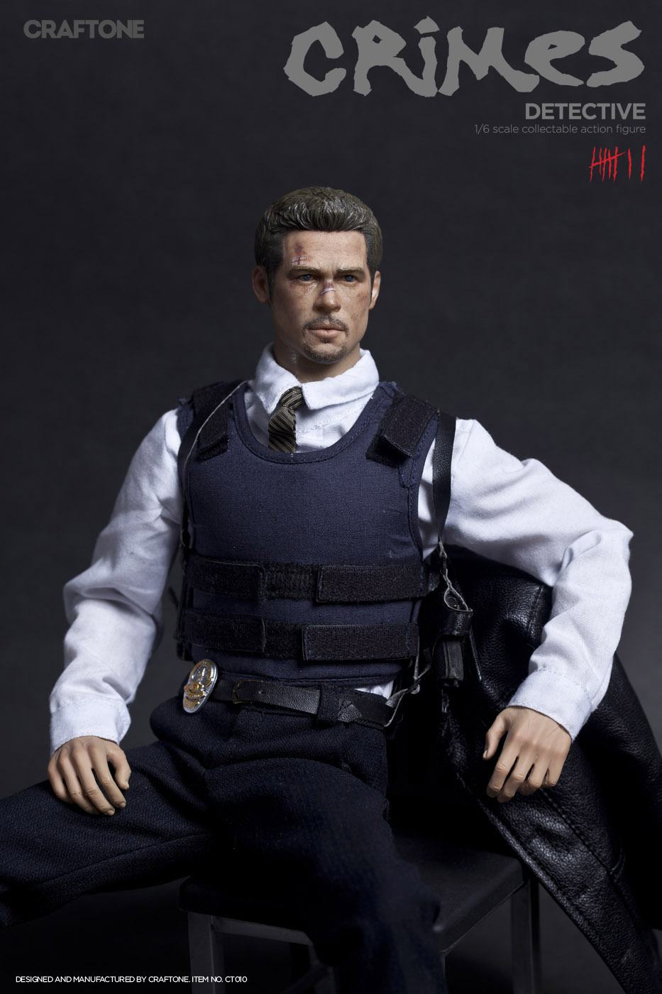 1/6th Collectible figure doll Se7en Detective David Mills Brad Pitt 12 action figures doll Plastic Model Toys not include chair 1 6th collectible figure doll se7en detective morgan freeman