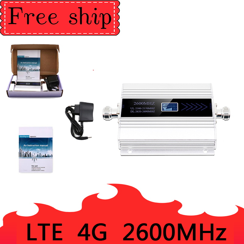 4G LTE 2600mhz Band 7 cellular signal booster 4G   mobile network booster Data Cellular Phone Repeater  Amplifier  Whip Antenna
