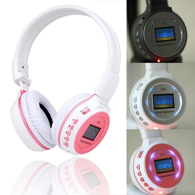 ZEALOTN65 LED Headhand 3.5mm Sports Music Wireless Headphone MMC / SD / TF card Headset