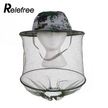 Relefree Hot Camouflage Mosquito Cap Midge Fly Insect Bucket Hat Fishing Camping Field Jungle Mask Face Protect Cap Mesh Cover