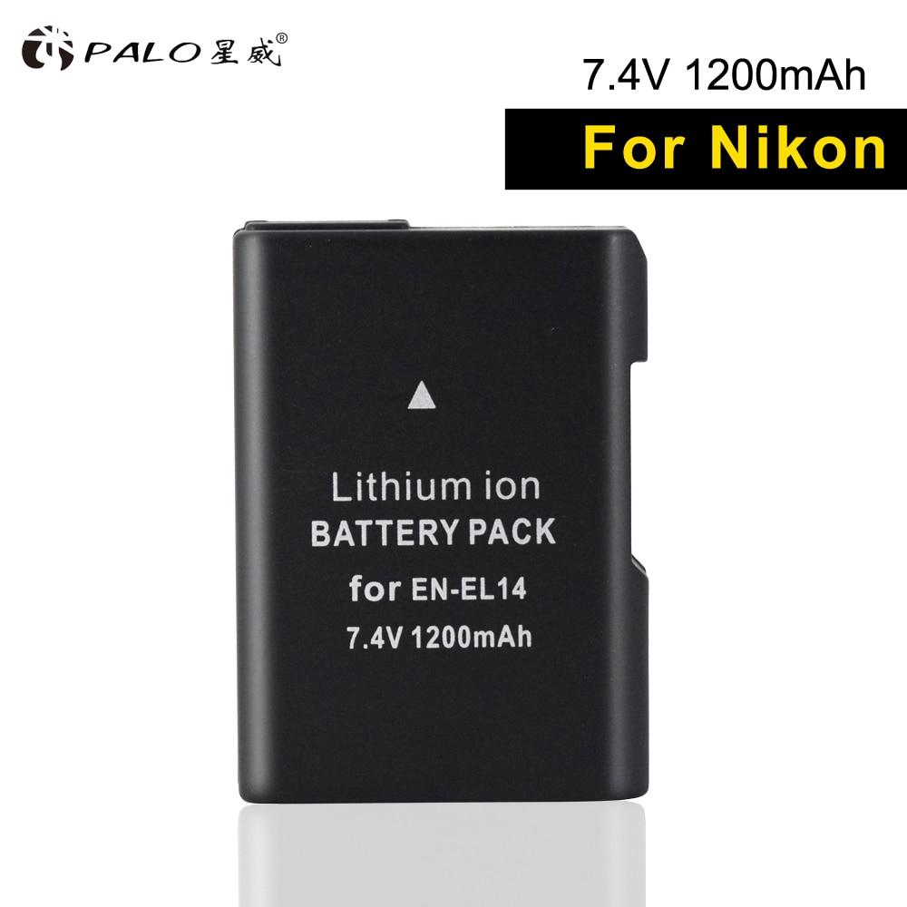 Batterien Digital Batterien Dynamisch Palo 1 Stücke En-el14 Digital Kamera Batterie 7,4 V En El14 Bateria Für Nikon Df D3400 D5300 D3100 D5600/ 5500/5200/3300 P7000/7100 Etc