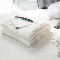 Летние одеяла colcha king size trapunta matrimoniale para cama colcha solteiro ручной работы лоскутное одеяло белый стеганое покрывало