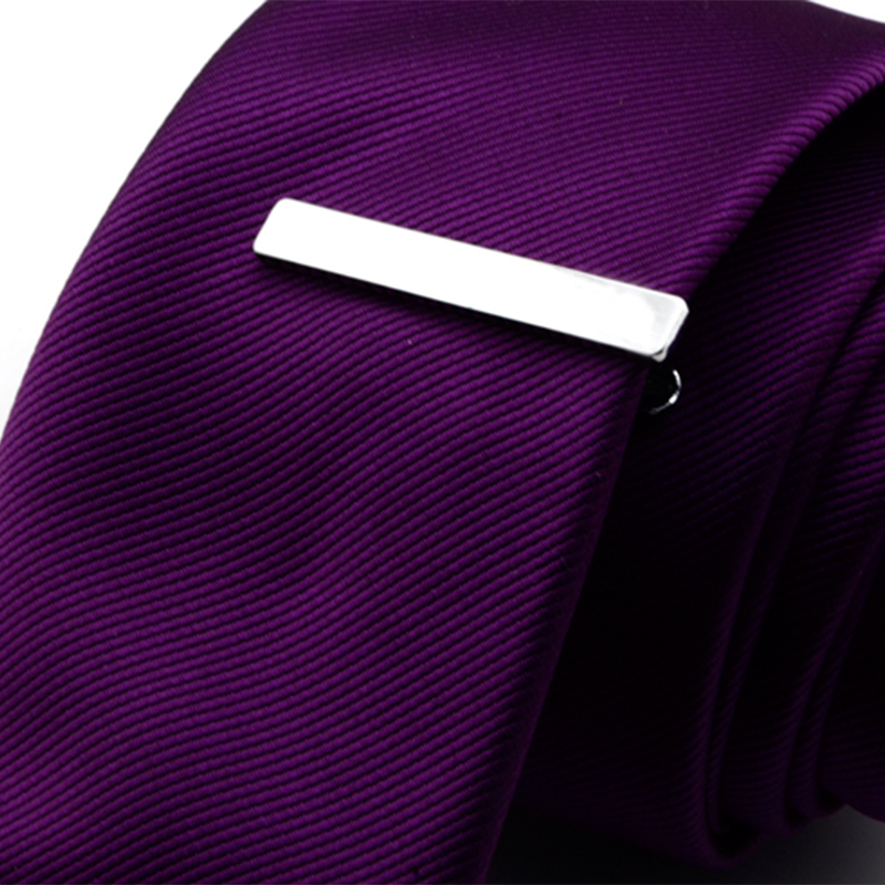 Mdiger Fashion Short Paragraph Men's Tie Clips Simple Iron Tie Clip For Wedding Exquisite Men's Tie Accessories Size 4*0.6 Cm